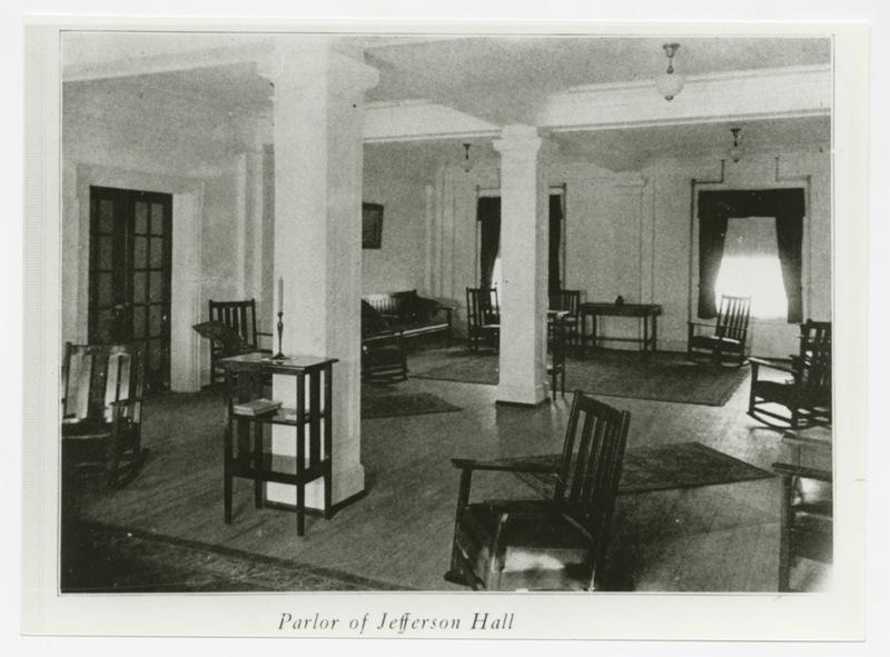 Jefferson Hall parlor, 1923