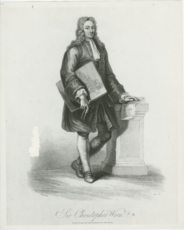 Sir Christopher Wren print