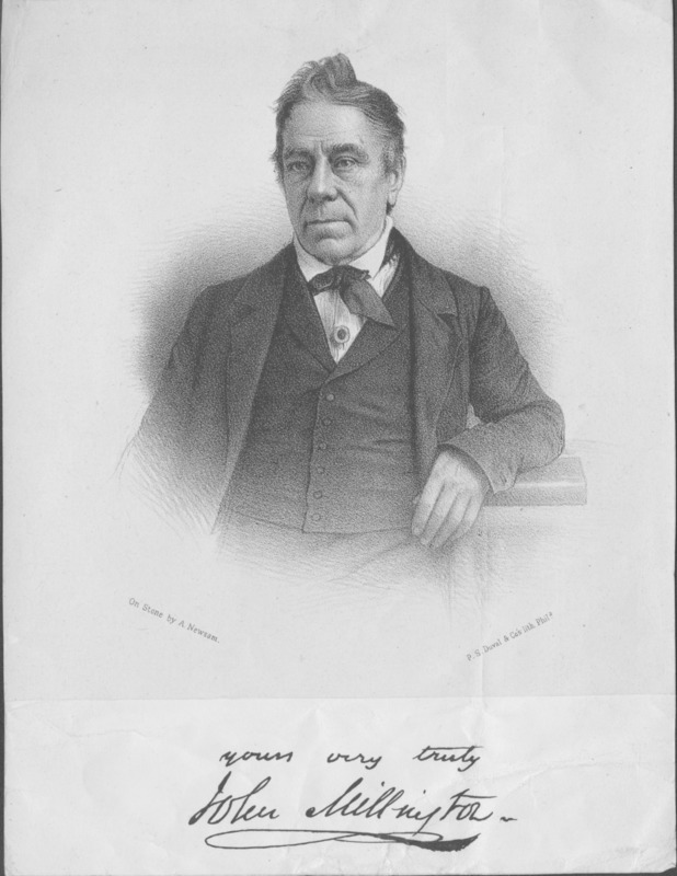 Photo of John Millington by P.S. Duval & Co., undated.
