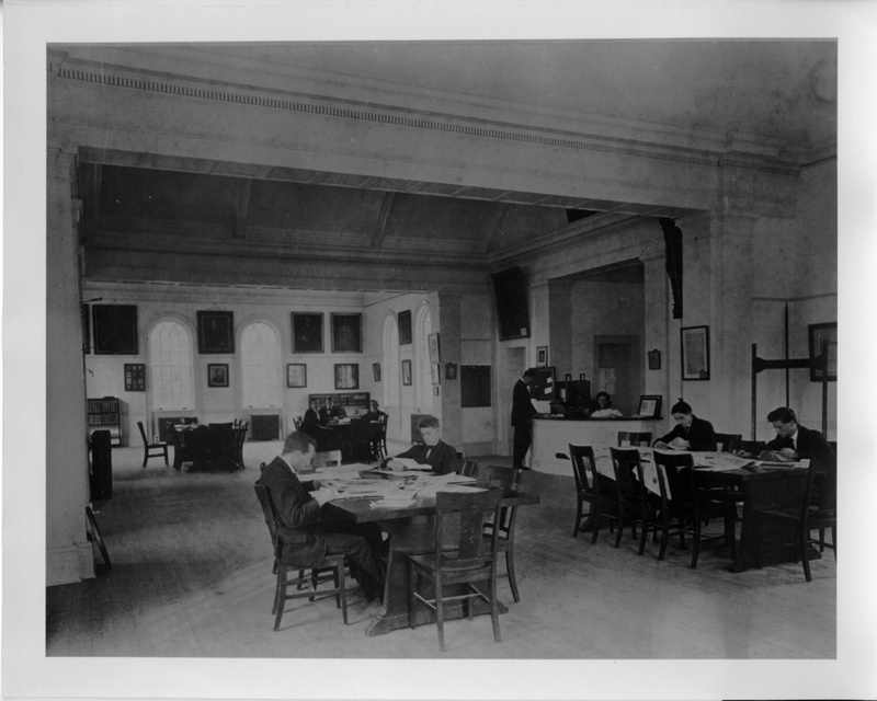 Students studying in the Old Library, 1919