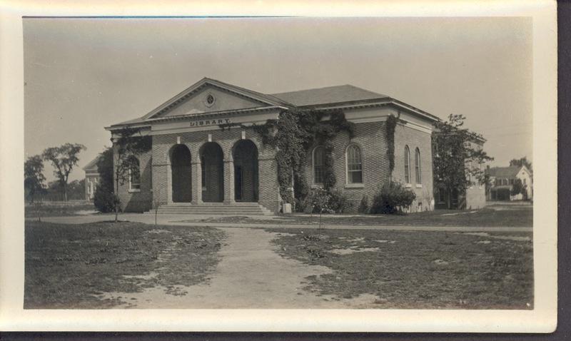 South facade of Old Library, circa 1925
